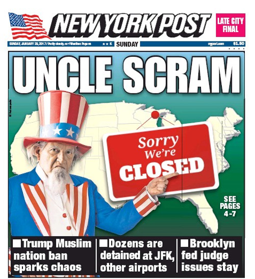 New York Post Page 1
